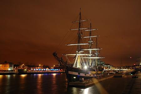 ship, cityscape, boat, harbor, pier, old, transport