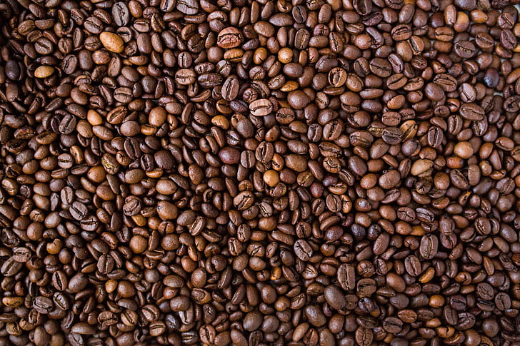 cafè, fesols, grans de cafè, aliments, textura, patró, gra de cafè torrat