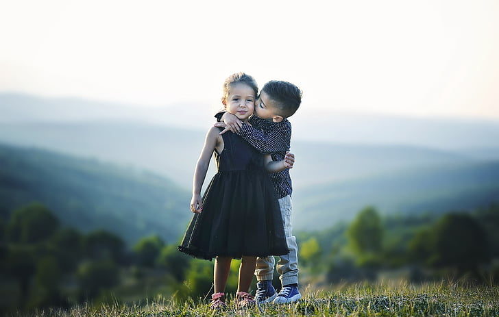 дитина, Красивий, модель, мало, Симпатичний, люди, портрет