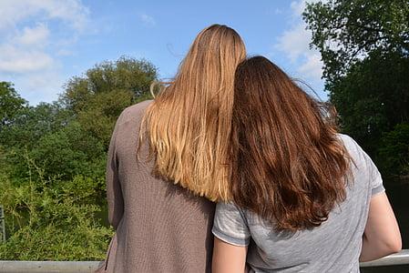 najlepší priatelia, priatelia, kamarátky, vedúci, hlavy, spolu, oboznámení