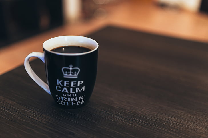 cafeïne, koffie, drankje, kalmte bewaren, macro, Mok, ontspannen