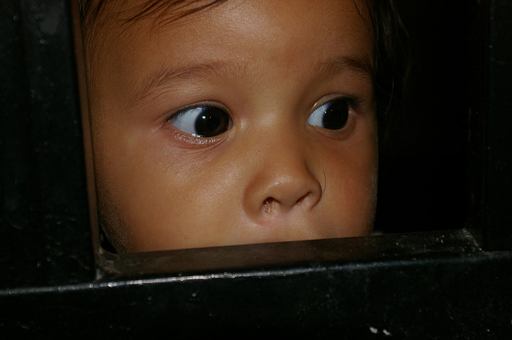 girl, look, child, eyes, face, happy, smiling