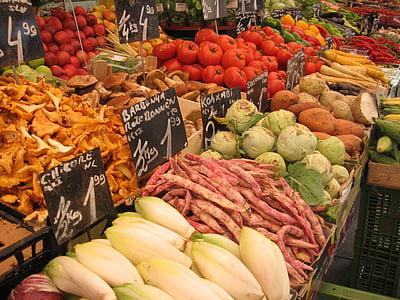 turu, köögiviljad, turu varisemine, toidu, terve, süüa, vitamiinid