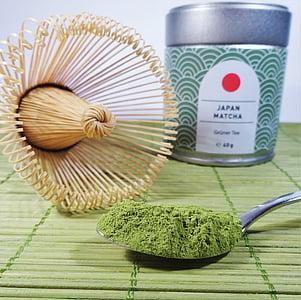 Matcha, yeşil çay, tee, çay tozu, Japonya, CHASEN, Bambu çırpma teli