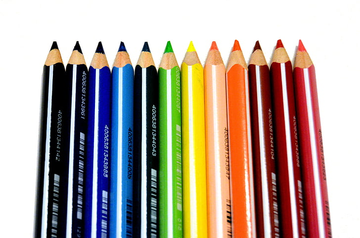 моливи, цвят, цвят, живопис, Рисуване, цветни, цветове