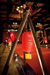 Ķīna vējš, kāzas, sarkana, apdare, Āzija, Laterna