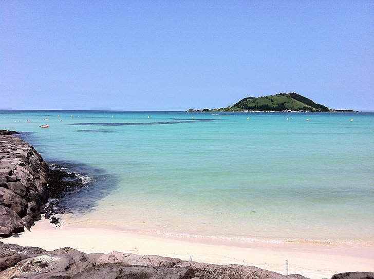 Jeju island, Jeju more, Jeju, Olle gill, more, Smaragdové more