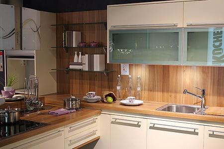 virtuvė, apdaila, virtuvės įranga, vidaus virtuvė, šiuolaikinės, namų interjeras, spintelė
