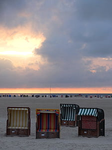 Краеведческий музей Амрума, пляж, мне?, Северное море, Остров, Северная Фризия, небо