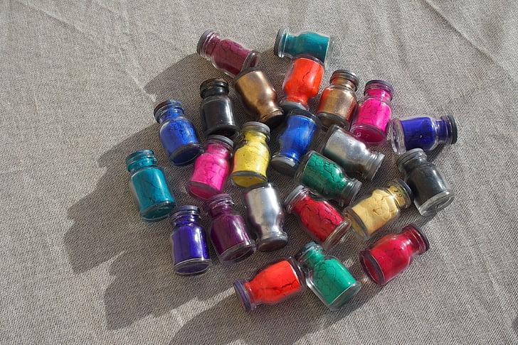 пигменти, цвят, Индия, много цветни, едър план