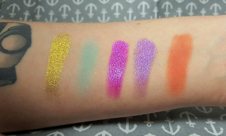 make-up, svetlé farby, Glamour, make-up, farebné, oči, Farba