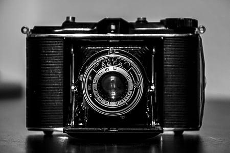 càmera, càmera de fotos, vell, anyada, fotografia, fotografia, retro