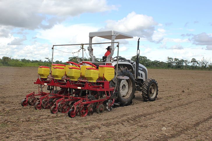 tractor, planting, cultivation, field, harvest, earth, field crops