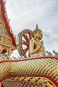 Buddha, Thaiföld buddhizmus, templom, Ázsia, szobor, arany buddha, meditáció