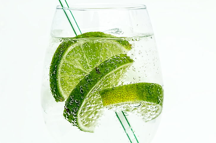 Lime, Club soda, dryck, cocktail, Juice, kalla, glas