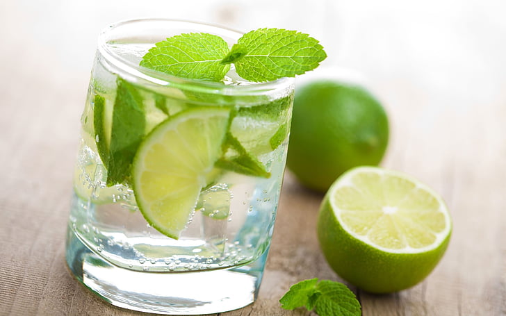 lemon, beverage, glass, lime, drink, food and drink, freshness