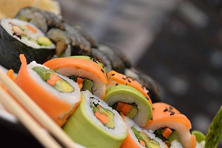 sushi, aliments, marisc, japonès, Japó, rotllo, àpat