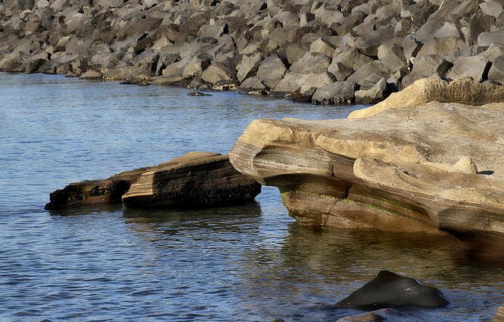 Rock, havet, Seaside, stranden, Rocks, Visa, landskap