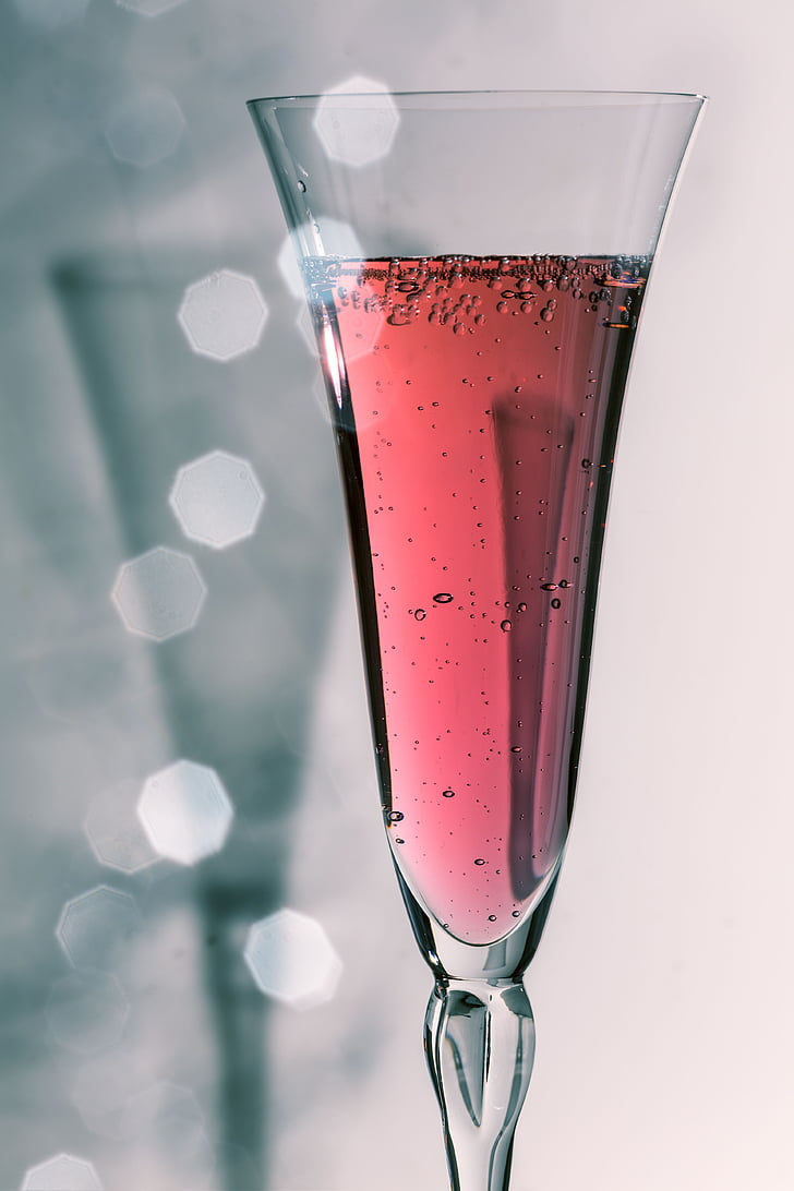 Copa de xampany, xampany, beguda, macro, ulleres, celebrar, vidre
