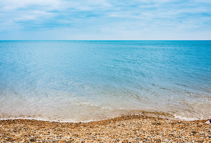 beach, clear water, horizon, nature, ocean, sea, seascape
