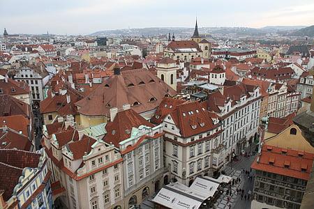 sentrum, gamlebyen, byen, Praha, arkitektur, bybildet, Europa