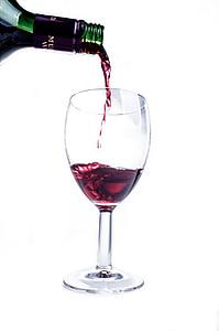 veini, punane, klaas, pritsimise, Splash, Wineglass, Suurendus: