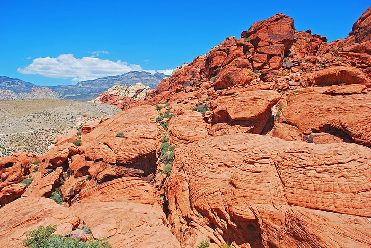 penhascos, pedras, vermelho, paisagem, natureza, ao ar livre, Verão