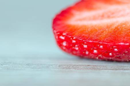 entelar, brillant, close-up, vermell