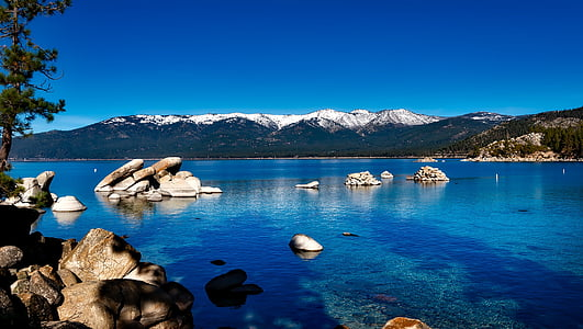 lake tahoe, Kalifornien, Mountain, skogen, USA, semester, naturen