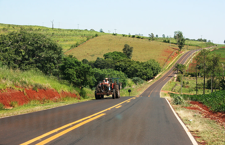 tractor, the service road, são paulo, agriculture, farmer
