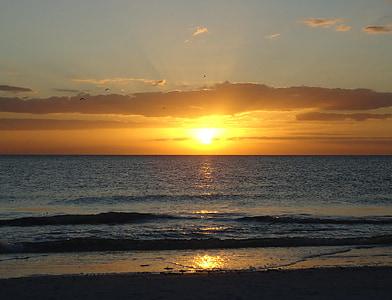 Alba, sortida del sol al mar, sol, platja, cel, despertar, natura