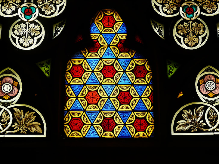 church window, leaded glass, church, historically, stained glass, antique, cathedral