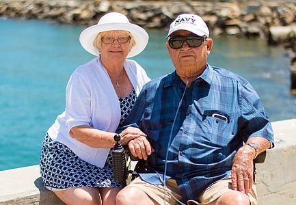 grandparents, love, married, grandmother, elderly, woman, together