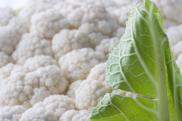 wit, bloemkool, plantaardige, gezonde, dieet, vers, gezondheid