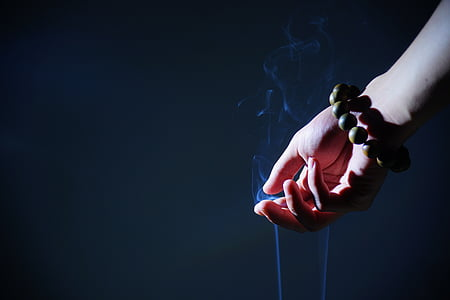 mà, rosaris budista, fum, Zen