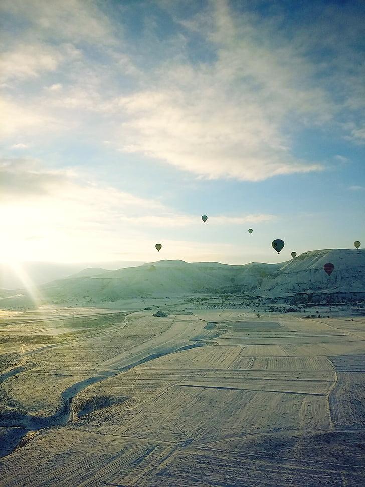 Türgi, Sunshine, lumi, kuumaõhupalliga