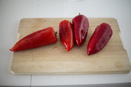 sarkana, dārzenis, pārtika, zvans, čili, pipari, garšvielas