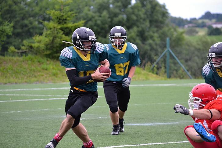 futbol, futbol americà, fatiga, coratge, joc de contacte, esport, victòria
