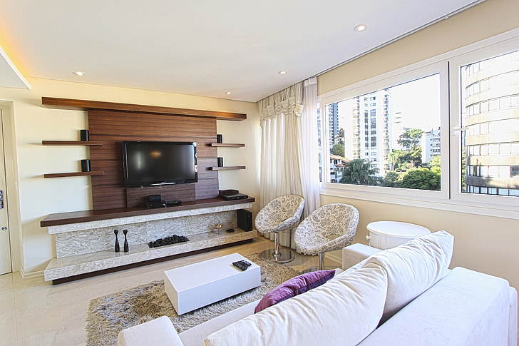 bagažo, apdaila, sofos, Apartamentai, modernus butas, salonas, šiuolaikiškai įrengti