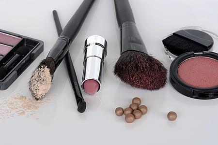 化妆品, 眼影, 胭脂, 笔刷, 口红, 弥补, 美