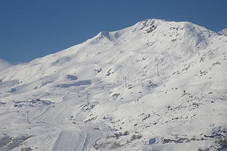ski area, ski run, wintry, mountain, snow magic, snow, winter