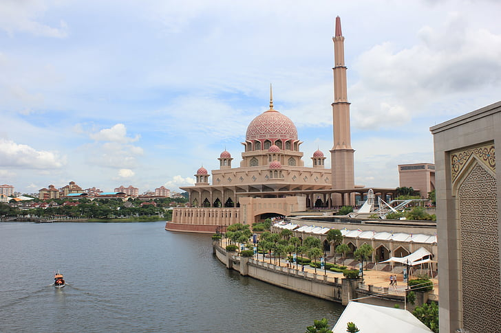putrajaya, mosque, muslim, malaysia, travel, landscape