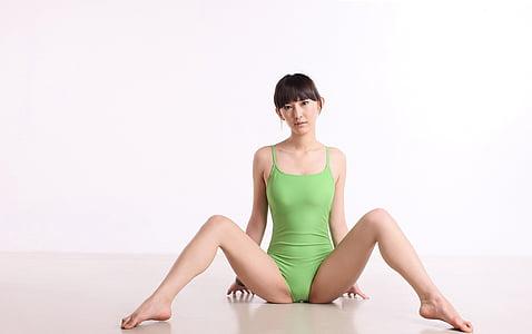 Xina, Ioga, dansa, pesos, femella, postura