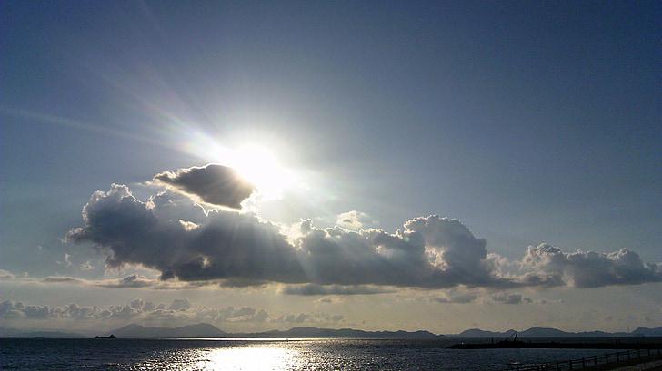 바다, 클라우드, 태양