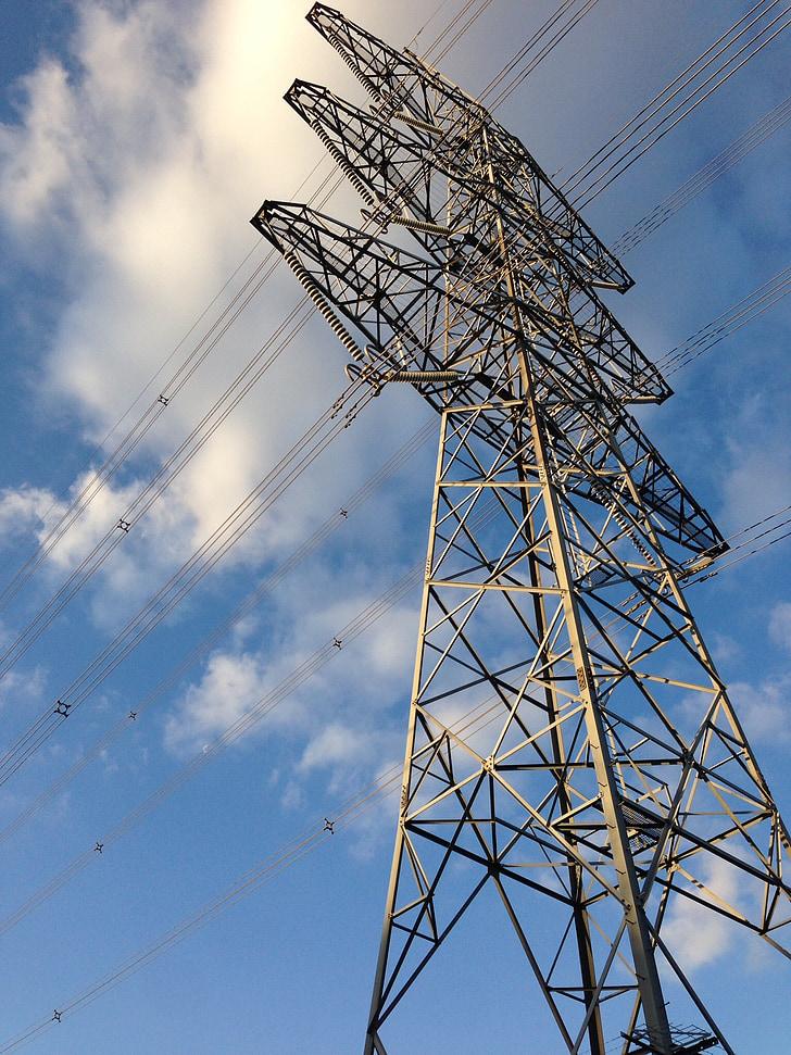 macht pole, elektriciteit, hulpprogramma pole, macht, huidige