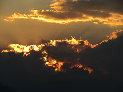 nuvole, Foto, d'oro, ora, tramonto, Alba, Nuvola
