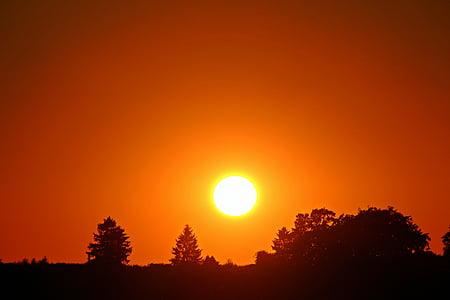 solnedgång, solen, Sky, abendstimmung, kvällshimmel, nedgående solen, Afterglow