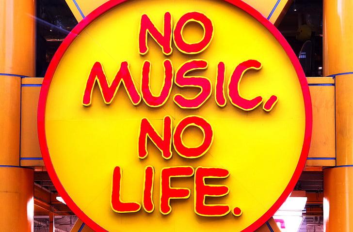 no hi ha, música, vida, sense música no hi ha vida, signe