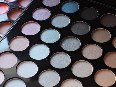 Kosmetik, Schönheit, Palette, Make-up, Schatten, Visage, Farbe