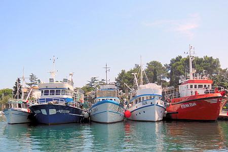 クルク島, ポート, クロアチア, クルク島の島, 船, 海, 水